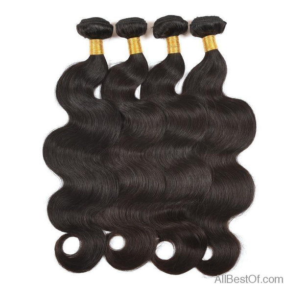 AllBestOf.com HAIR Body Wave Hair Extensions 8-30 inch 100% Human Hair Weave Bundles 1/3/4 PCS #Natural Color Black #2 #4 #27 # 1B/27 #1B/30 #1B/99j # 1B/4/27