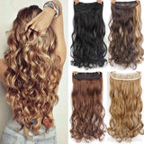 "AllBestOf.com HAIR Hair 22"" 20 Colors Long Wavy High Temperature Fiber Synthetic Clip in Hair Extensions for Women"