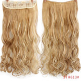 "AllBestOf.com HAIR P27/613 Hair 22"" 20 Colors Long Wavy High Temperature Fiber Synthetic Clip in Hair Extensions for Women"