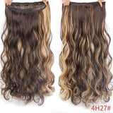 "AllBestOf.com HAIR P4/27 Hair 22"" 20 Colors Long Wavy High Temperature Fiber Synthetic Clip in Hair Extensions for Women"