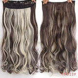"AllBestOf.com HAIR P4/613 Hair 22"" 20 Colors Long Wavy High Temperature Fiber Synthetic Clip in Hair Extensions for Women"