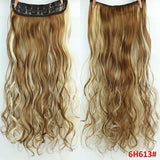 "AllBestOf.com HAIR P6/613 Hair 22"" 20 Colors Long Wavy High Temperature Fiber Synthetic Clip in Hair Extensions for Women"
