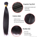 AllBestOf.com HAIR Peruvian Straight Human Hair 1/4 Bundles Extensions Hair Weave 10-28 inches Natural Color