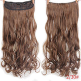 "AllBestOf.com HAIR T1B/30 Hair 22"" 20 Colors Long Wavy High Temperature Fiber Synthetic Clip in Hair Extensions for Women"