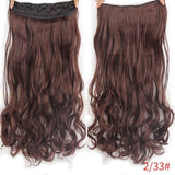 "AllBestOf.com HAIR T1B/33 Hair 22"" 20 Colors Long Wavy High Temperature Fiber Synthetic Clip in Hair Extensions for Women"