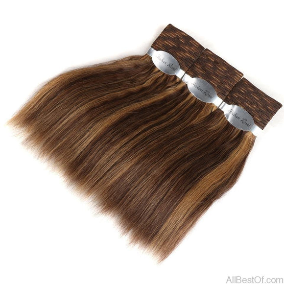 AllBestOf.com HAIR Wet And Wavy Human Hair Bundles Indian Remy Hair Weave 3 Bundles Deal Hair Extensions Piano Color