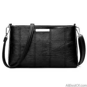 AllBestOf.com HANDBAG Black Woman Plaid Leather luxury Designer Handbags