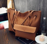 AllBestOf.com HANDBAG brown Soft Leather Women HandBag Set Luxury Brand Designer High Quality