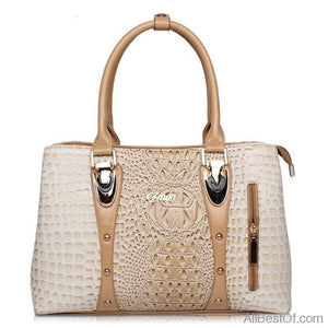 AllBestOf.com HANDBAG Luxury Brand Designer Fashion Crocodile Leather Handbag
