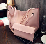 AllBestOf.com HANDBAG Pink Soft Leather Women HandBag Set Luxury Brand Designer High Quality