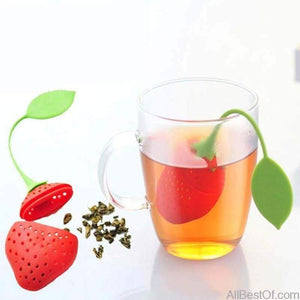 AllBestOf.com HEALTH & BEAUTY 1 Pc Kitchen Supplies Tea Strainer Strawberry Shape Silicone Tea Infuser Accessory