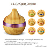 AllBestOf.com HEALTH & BEAUTY Electric Aroma diffuser wood Ultrasonic humidifier 300ml USB Essential oil Aromatherapy air diffuser LED Lights for home