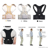 AllBestOf.com HEALTH & BEAUTY Magnetic Therapy Posture Corrector Brace Shoulder Back Support Belt for Men Women Braces & Supports Belt Shoulder Posture
