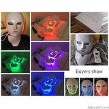 AllBestOf.com HEALTH & BEAUTY New LED Light Photon Face Neck Mask Skin Rejuvenation Therapy Wrinkles 7 Colors