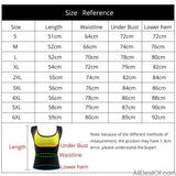 AllBestOf.com HEALTH & BEAUTY Plus Size S-6XL Women Neoprene Shaperwear Waist Push Up Vest Body Shaper