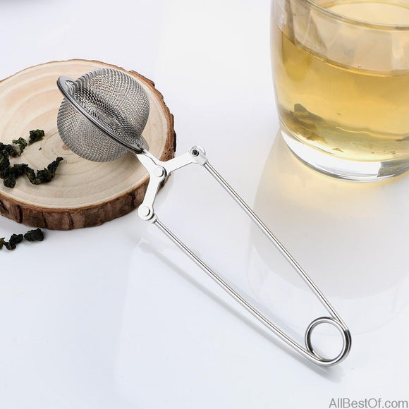 AllBestOf.com HEALTH & BEAUTY Sphere Mesh Tea Strainer Handle Tea Ball Tea Infuser Coffee Herb Spice Filter Diffuser