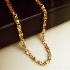 AllBestOf.com JEWELS High quality Gold color 50cm Long Cuban Link Chain hiphop franco chain Statement necklace Young men jewelry choker