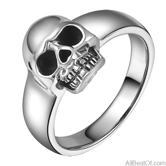 AllBestOf.com JEWELS Real 925 Sterling Silver Punk Skull Vintage Rings