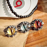 AllBestOf.com JEWELS Rock Claw with three Zircon stone evil eye CZ ring men anniversary Biker jewelry Gift