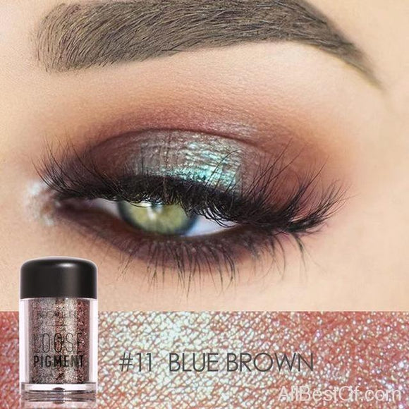 18 Colors Glitter Eye Shadow Cosmetic Makeup Diamond Loose Makeup Eyes Pigment Powder - AllBestOf.com