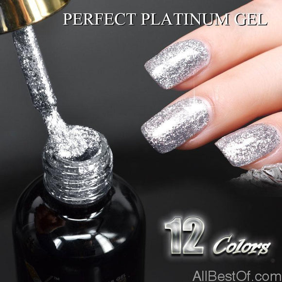 12ml 12 colors super diamond shining glitter sequin starry platinum paint gel - AllBestOf.com