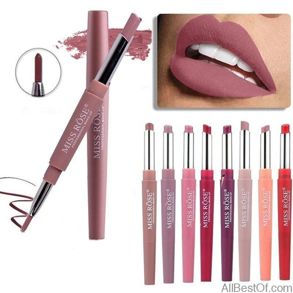 AllBestOf.com MAKEUP 8 Colors Double-end Lip Makeup Lipstick Pencil Waterproof Long Lasting Tint Sexy Red