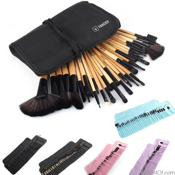 Professional Makeup Brush Foundation Eye Shadows 32Pcs Set - AllBestOf.com
