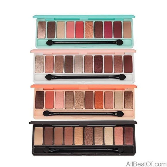 Fashion Matte Eyeshadow Palette 10 Colors Glitter MakeUp set Korea Cosmetics - AllBestOf.com