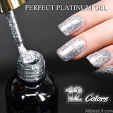 Gel Paints Crystal Nail Pearl Diamonds Soak off Platinum UV LED Gel Nail Polish - AllBestOf.com