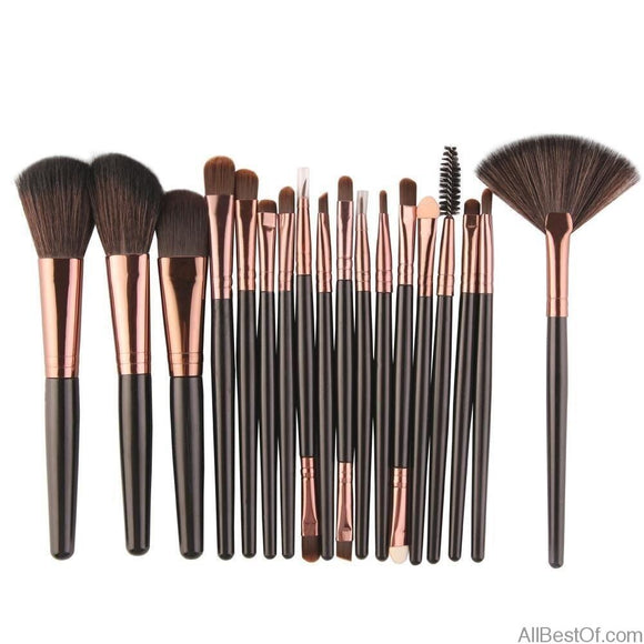 Professional Makeup Brushes Set Foundation 6/15/18 Pcs - AllBestOf.com
