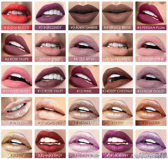 Makeup Matte Liquid Lipstick Long-Lasting 24 Colors - AllBestOf.com