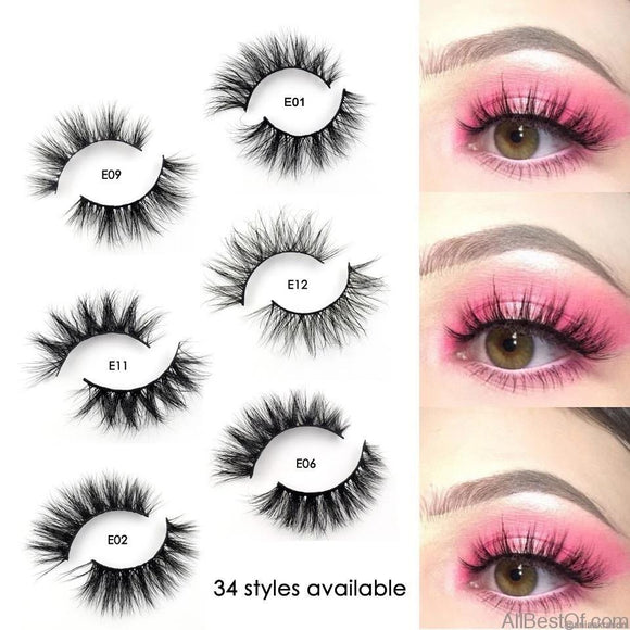 AllBestOf.com MAKEUP Mink 3D Eyelashes Handmade Reusable Popular False Lashes Makeup