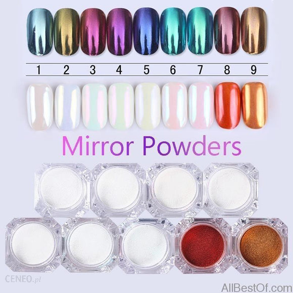 Mirror Nail Glitter Pigment Powder 1g Gold Blue Purple Dust Manicure Nail Art Glitter Chrome Powder Decorations - AllBestOf.com