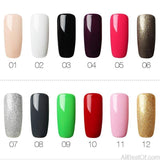 Pure Color Gel Nail Polish UV&LED Lamp Gel Varnishes For Nail Extension Manicure Top Nail Art - AllBestOf.com