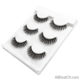 AllBestOf.com MAKEUP X04 New 3 pairs false eyelashes long makeup 3D mink lashes extension for beauty