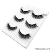 AllBestOf.com MAKEUP X08 New 3 pairs false eyelashes long makeup 3D mink lashes extension for beauty