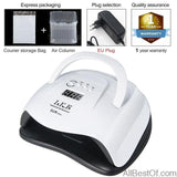 AllBestOf.com NAILS SUNX 48W 54W Nail Dryer UV LED Nail Lamp Gel Polish Curing Lamp with Bottom 30s/60s Timer LCD Display