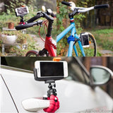 Bicycle car style mobile phone holder flexible octopus tripod bracket selfie stand mount monopod support For Apple iphone camera - AllBestOf.com