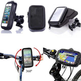 Bicycle Motorcycle Phone Holder Support For Moto Stand Bag For Iphone X 8 Plus SE S9 GPS Bike Holder Waterproof Cover - AllBestOf.com