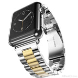Fashion Stainless Steel Watch band Strap for apple watch 42 mm 38 mm link bracelet Replacement Watchband for iwatch serie 1 2 3 - AllBestOf.com