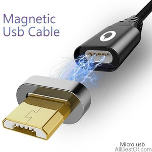 Magnetic Cable Micro Usb Fast Charging Adapter Android Plug mobile phone - AllBestOf.com
