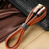 AllBestOf.com Phone Micro USB Cable 1M Premium Leather Braided Cable for Samsung Xiaomi Huawei Android