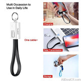 AllBestOf.com Phone Mini KeyChain For iPhone Micro USB Cable / For Android Charger Cable Portable Charging Sync Data Cord USB