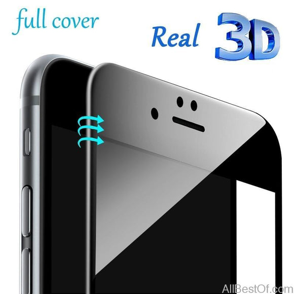 Real 3D Curved 9H Screen Protector 5D 6D Full Cover Nano Tempered Glass for iPhone 6 6S 6Plus 7 7Plus 8 8Plus X Best Quality - AllBestOf.com