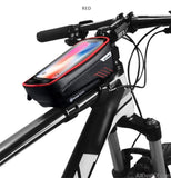 AllBestOf.com Phone Red Mountain Bike Bag Rainproof Mobile Phone Case Bicycle Bag Cycling Accessories