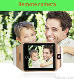 Smart Watch Q18 Sport Watch for Android Smartphones Bluetooth Camera Curved Screen - AllBestOf.com
