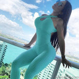 AllBestOf.com SPORT Blue / S One Piece Sport Clothing High Elastic Backless Fitness Running Gym Yoga Sets