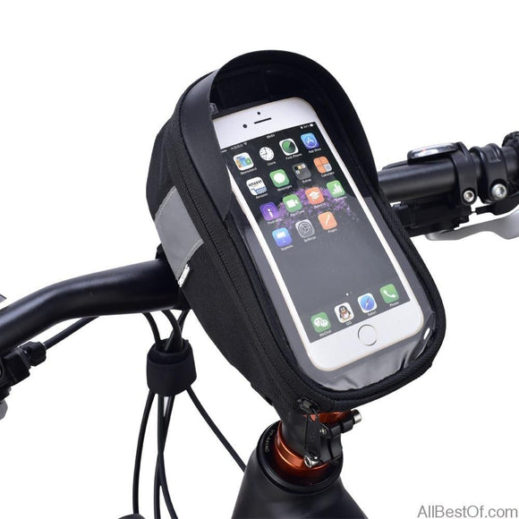 AllBestOf.com SPORT Cycling Bike Head Tube Handlebar Mobile Phone Bag Case For 6.5inch Phone