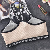 AllBestOf.com SPORT Letter Sports Bra Top Push Up Fitness Running Yoga Gym Bra Sportswear