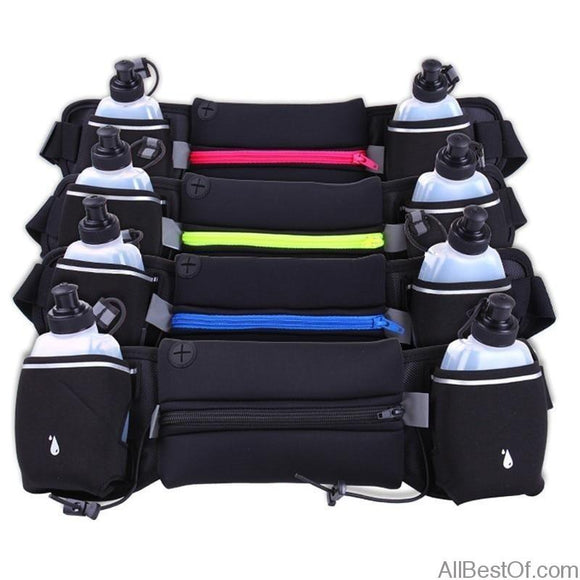 AllBestOf.com Sport Waist Bags Outdoor Jogging Hydration Bottle Lightweight Sport Wallet